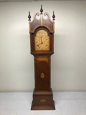 "Rare Antique Hand Made Inlaid Decorated  ""Grandmother "" Clock"