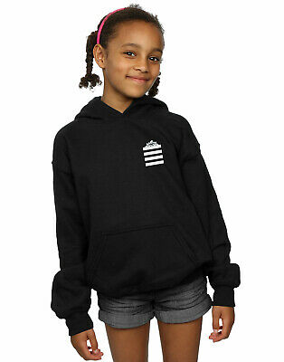 Looney Tunes Girls Taz Stripes Faux Pocket Hoodie