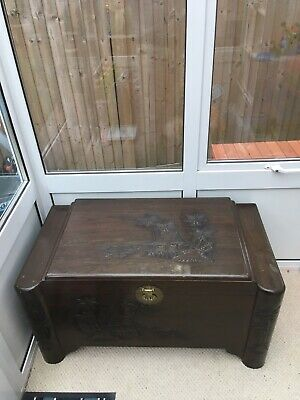 Large Oriental Camphor Wood Chest - Coffee Table
