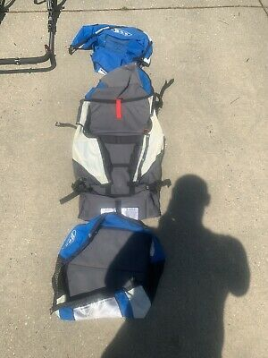 Bob Sport Utility Stroller SO72583 BLUE Canopy , Seat and Basket.
