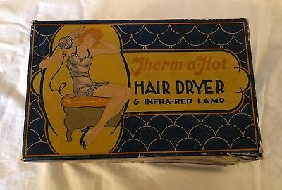 Vintage Pink Knapp Monarch Therm A Hot Hair Dryer & Infra Red Lamp 30s 40s