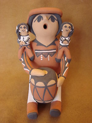 Jemez Pueblo Indian Handmade Clay Storyteller by B.J. Toya