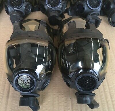 Authentic MSA Millennium CBRN 40mm Gas Mask Large OEM Full Face MSA Respiractor
