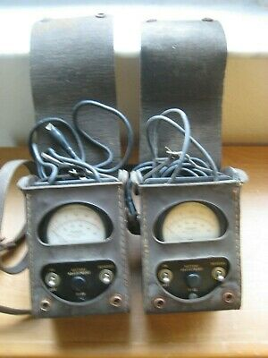Vintage BELL SYSTEM / Ohm Test Meters / With Leather Cases / KS-8455 / Untested