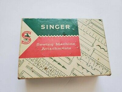 Vintage For Singer Sewing Parts Accessories Attachments Lot with Box Fast Ship