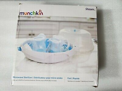 Munchkin Steam Guard Microwave Sterilizer, New, Free shipping Heat Tong OPEN BOX