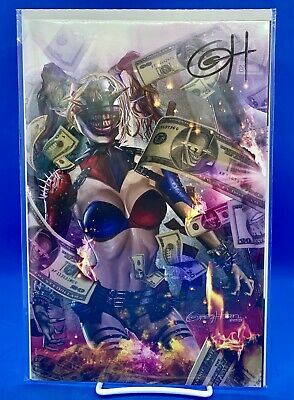 Batman Who Laughs #1 Exclusive Greg Horn Variant D Harley Quinn Limited 1000 NM