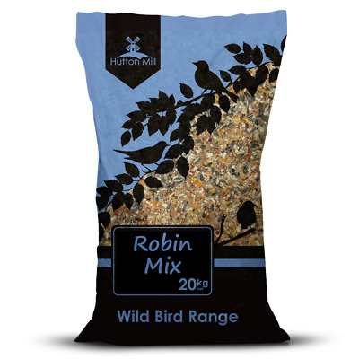 Hutton Mill Robin Mix with Mealworms | Songbird Wild Bird Food | 20kg Bulk Bag