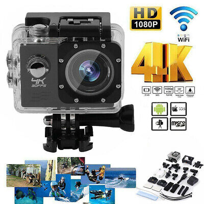 Ultra 4K Full HD Wi-Fi 1080P Sports Camera Cam Action DVR Waterproof Camcorder