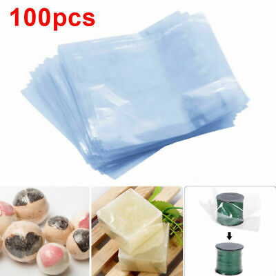 100* Multi Size Shrink Wrap Bag Heat Shrink Pouch Bags Soaps Bath Bomb Craft.UK