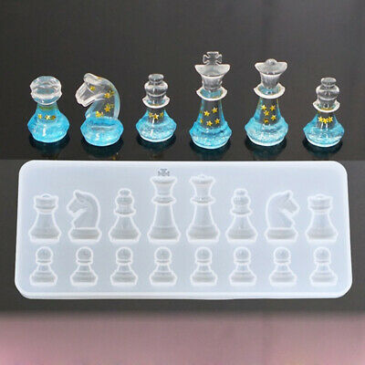 Silicone Chess Pendant Mold Making Jewelry Resin Necklace Mould Craft DIY hot