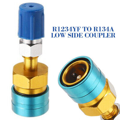 UK 1Pcs R1234YF TO R134A Hose Adapter Low Side Coupler Quick Fitting Connector