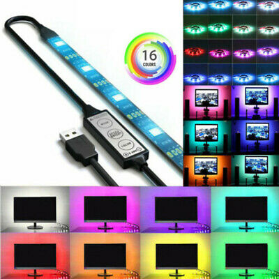 1M Home USB RGB LED Light Strip For TV LCD HDTV Display Backlight Dropping Glue