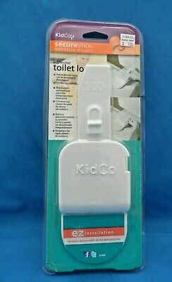 KidCo Adhesive Toilet Seat Lid Automatic On/Off Baby Safety Lock S384