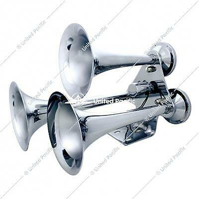 """3 Trumpet """"Competition Series"""" Chrome Train Horn"""