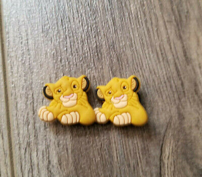 2  X  Simba Crocs Shoe Charm Pvc Rubber - The Lion King