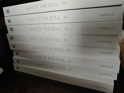 BTS- Map of the Soul : 7 Official Album (Choose Ver.)  [No PC] + INCLUDES POSTER