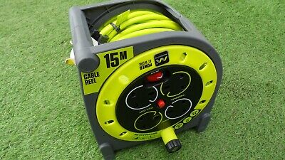 Master Plug Pro Xt 15 Meter Extension Cable Reel With 4 Way Sockets And Thermal