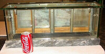 Antique Salesman sample country store display case---oak-glass-marble-----15544
