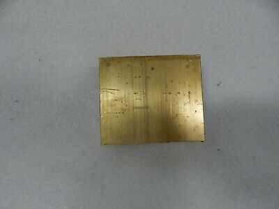 "1"" x 3"" C360 BRASS FLAT BAR 1-3/4"" long Solid Plate Mill Stock 1.0""x 3.0""x 1.75"""