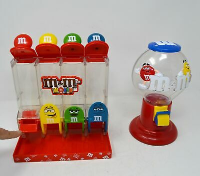 SET of 2 Large M & M's Buble gum & 4 tuby Candy dispensers Lot ~ Mars