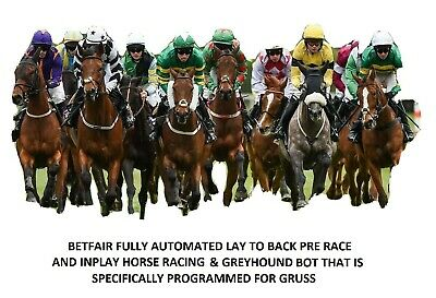 Betfair Automated Lay to back Horse Racing & Greyhound Bot inplay & pre race