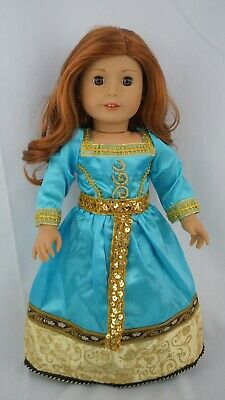 "Brave's princess Merida outfit fits 18"" dolls & american girl dolls"