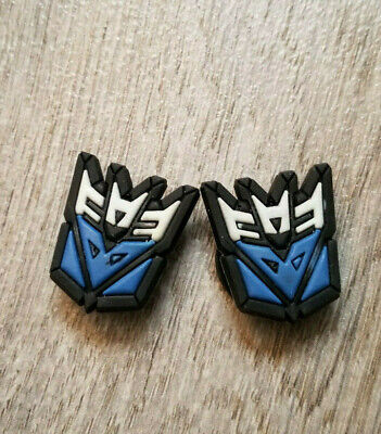 2  X  Transformer Shoe Charm Pvc Rubber