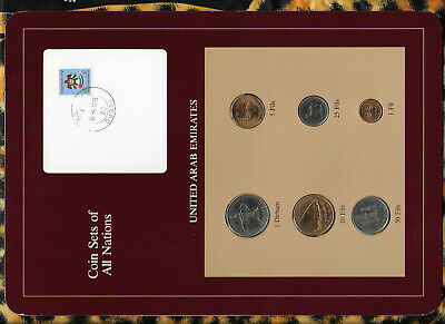 Coin Sets of All Nations UAE United Arab Emirates UNC 1975-1986 1 Fil 1975