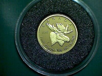 2004 CANADA Gold moose 1/25 oz gold 50 cent coin proof coin - in capsule only