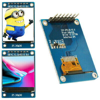 UK 1.3'' 240RGB*240 IPS Full Color LCD Screen Display Module ST7789 SPI Arduino