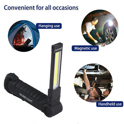 LED COB Inspection Lamp Work Light Flexible Rechargeable Hand Torch w/USB