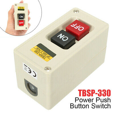 TBSP-330 3 Phase 3.7Kw Power Push Button Switch Station ON/OFF Lock Tend UK shop