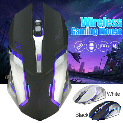 X7 Wireless Breathing Light Optical Mice Gaming Mouse USB Rechargeable hot