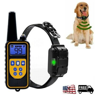Remote Dog Shock Training Collar Electric Waterproof for Pet 330/875/1000 Yard