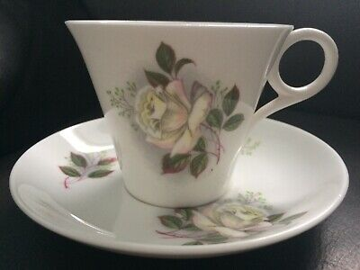 A Rare Shelley Cup And Saucer In Regent Shape