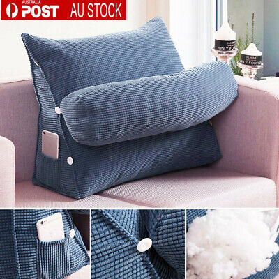 AU Bed Chair Sofa Office Rest Neck Back Support Wedge Cushion Pillow