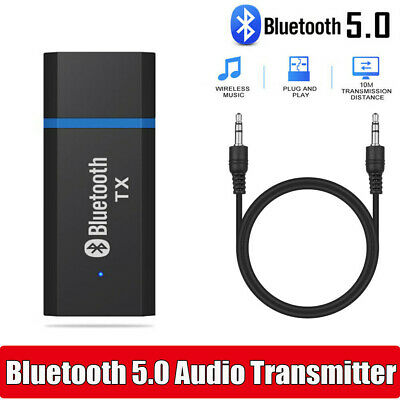 Bluetooth Transmitter 5.0 USB Audio Adapter For AUX Headphones 3.5MM Jack HOT !