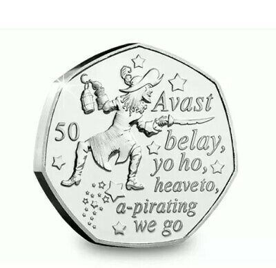 2019 UNCIRCULATED HOOK 50p  FROM PETER PAN COLLECTION 🧚🐊