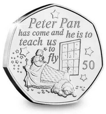 2019 UNCIRCULATED NANA 50p  FROM PETER PAN COLLECTION 🧚🐊