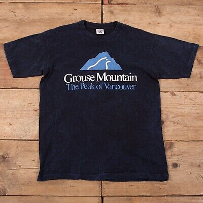 "Mens Vintage Fruit of The Loom Single Stitch Vancouver T-shirt L 42"" R17199"
