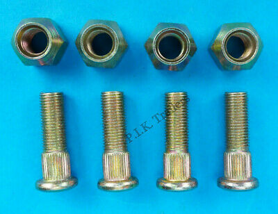 "4 x Wheel Hub Studs & Nuts 3/8"" UNF for 4"" PCD on 8"" Trailer Wheel"