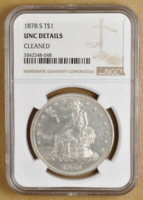 1878 S Trade Dollar NGC UNC Details