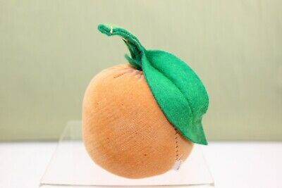 Vintage Peach Velveteen & Felt Pin Cushion WITH Hidden Tape Measure