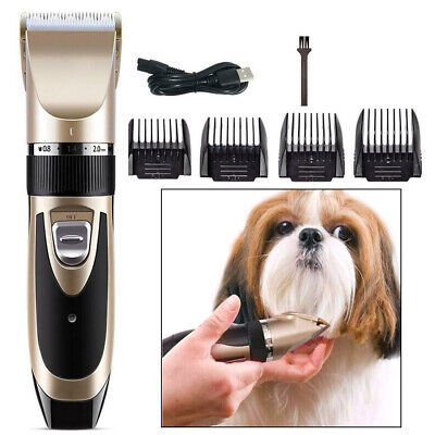 Pro Electric Animal Pet Dog Cat Hair Trimmer Shaver Razor Grooming Quiet Clipper