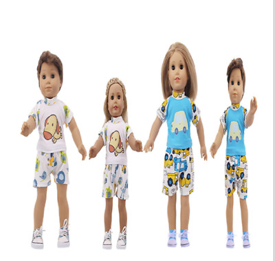 18 Inch American Girl Boy Doll Clothes Accessories Handmade Doll Two-Piece Pants