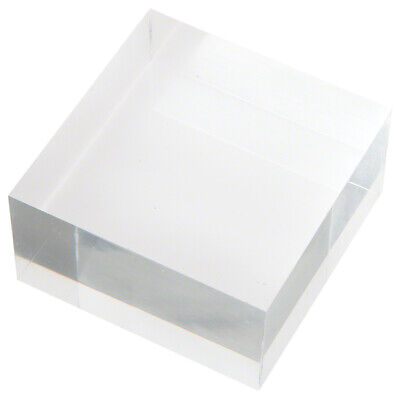 """Plymor Clear Polished Acrylic Square Display Block, 1.5"""" H x 3"""" W x 3"""" D"""