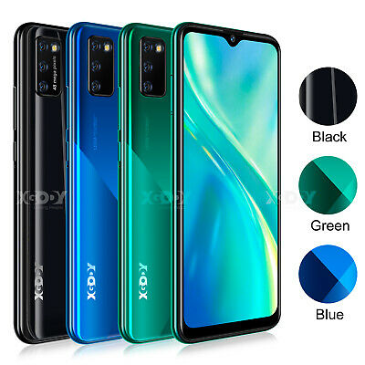 """6.6"""" Unlocked Android 9.0 Mobile Phone 4G Dual SIM Smartphone Quad Core Phablet"""