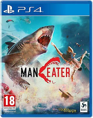 Maneater Day One Edition Ps4 Gioco Italiano Play Station 4 Videogioco Nuovo