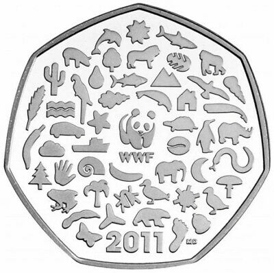 WWF World Wildlife Fund 50p Coin 2011 Rare Fifty Pence